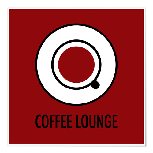 Poster Coffee Lounge, braun