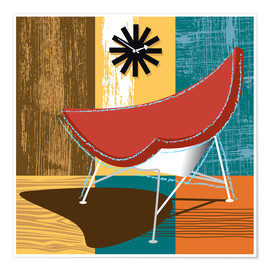 Premium-Poster coconut chair
