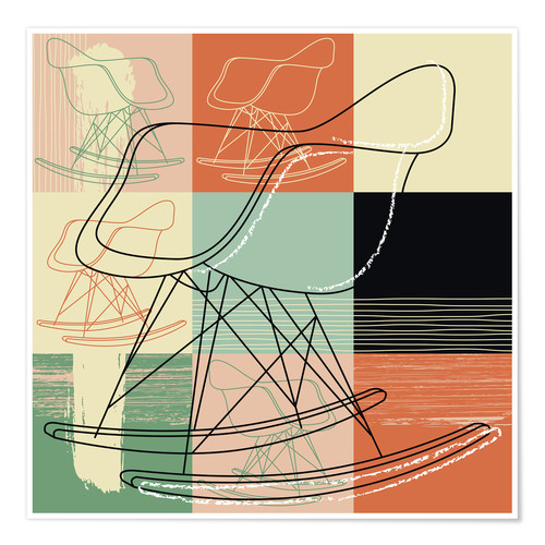 Premium-Poster rocking chair