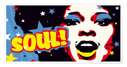 Premium-Poster Soul! for the funky world