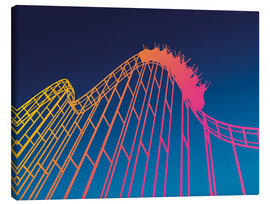 Leinwandbild  rollercoaster - David Fairfield