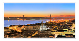 Poster  Lissabon Panorama - Fine Art Images