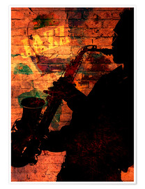 Poster  Saxofonist - colosseum