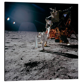 Alu-Dibond  Apollo 11, Moonwalk - Stocktrek Images