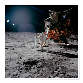 Poster  Apollo 11, Moonwalk - Stocktrek Images