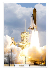 Premium-Poster  Space Shuttle Atlantis startet - Stocktrek Images