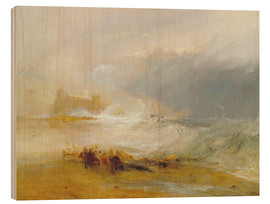 Holzbild  Wreckers - Küste von Northumberland - Joseph Mallord William Turner