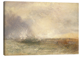 Leinwandbild  Stürmische See - Joseph Mallord William Turner