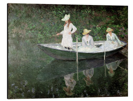 Alubild  Boot bei Giverny - Claude Monet