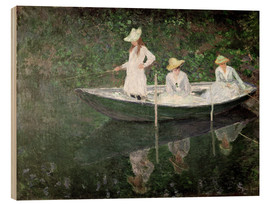 Holzbild  Boot bei Giverny - Claude Monet