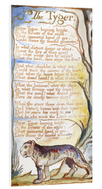 Hartschaumbild  Der Tiger - William Blake