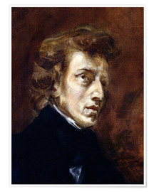 Poster  Frederic Chopin - Eugene Delacroix