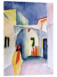 Acrylglas  Gasse in Tunis - August Macke