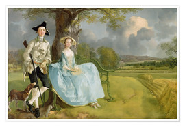 Premium-Poster  Mr. und Mrs. Andrews - Thomas Gainsborough