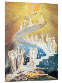 Hartschaumbild  Jakobsleiter - William Blake