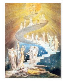 Poster  Jakobsleiter - William Blake