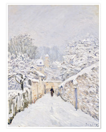 Premium-Poster  Schnee in Louveciennes - Alfred Sisley