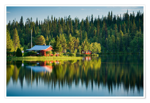 Premium-Poster Sommer in Lappland