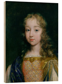 Holzbild  Louis XIV als Kind - French School