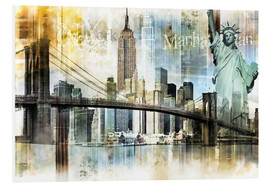 Forex  Skyline New York Abstrakt Fraktal - Städtecollagen