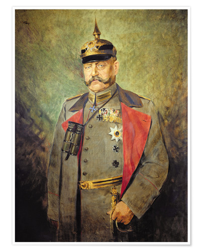 Premium-Poster General Paul von Hindenburg