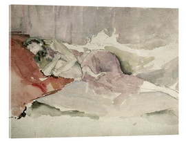 Acrylglas  Mother and Child on a Couch - James Abbott McNeill Whistler