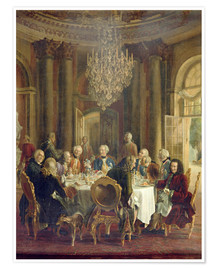 Poster Dinner Tisch in Sanssouci