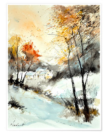 Poster Winteraquarell