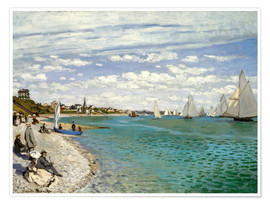 Poster  Regatta in Sainte-Adresse - Claude Monet
