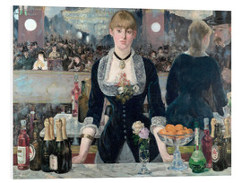 Hartschaumbild  Bar in den Folies-Bergère - Edouard Manet