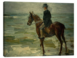 Leinwandbild  Reiter am Meer nach links - Max Liebermann