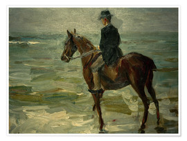 Premium-Poster  Reiter am Meer nach links - Max Liebermann