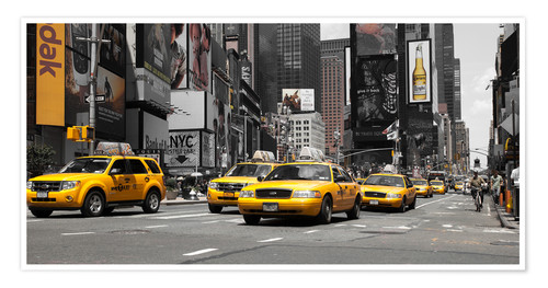 Premium-Poster New York's Taxis