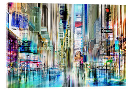 Acrylglasbild  times square USA NYC New York Collage - Städtecollagen