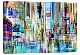Leinwandbild  times square USA NYC New York Collage - Städtecollagen