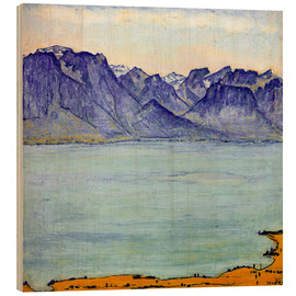 Holzbild  Genfersee bei Chamby - Ferdinand Hodler