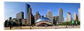 Acrylglas  Panorama-Jahrtausend-Park in Chicago mit Cloud Gate - HADYPHOTO by Hady Khandani