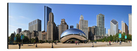 Alubild  Panorama-Jahrtausend-Park in Chicago mit Cloud Gate - HADYPHOTO