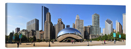 Leinwandbild  Panorama-Jahrtausend-Park in Chicago mit Cloud Gate - HADYPHOTO by Hady Khandani