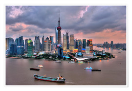 Poster  Blick auf Pudong - Shanghai - HADYPHOTO by Hady Khandani