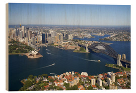 Holzbild  Sydney Skyline - David Wall
