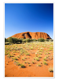 Premium-Poster  Ayers Rock - David Wall