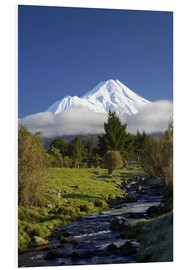Hartschaumbild  Natur am Mount Taranaki - David Wall