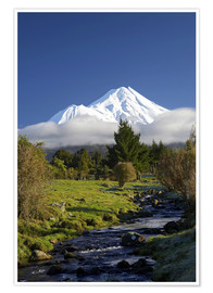 Premium-Poster  Natur am Mount Taranaki - David Wall