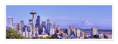 Premium-Poster Seattle Skyline