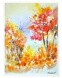 Premium-Poster Herbstliches Aquarell