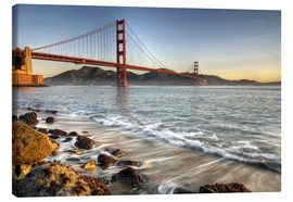 Leinwandbild  Blick zur Golden Gate Bridge - David Svilar