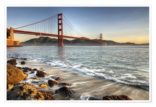 Premium-Poster Blick zur Golden Gate Bridge