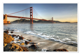 Premium-Poster  Blick zur Golden Gate Bridge - David Svilar
