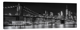 Leinwandbild  New York City Night Skyline - Melanie Viola